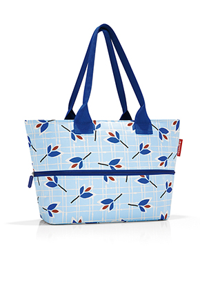 Reisenthel Shopper E1 leaves blue
